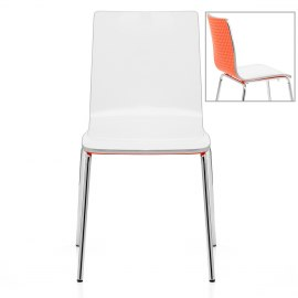 Fresco Dining Chair White & Orange