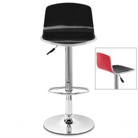 Glam Bar Stool Black & Red