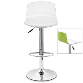 Glam Bar Stool White & Green