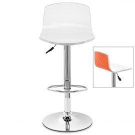 Padded Crescent Bar Stool Orange Atlantic Shopping