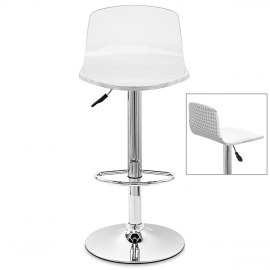Glam Bar Stool White & Silver