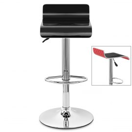 Glimmer Bar Stool Black & Red