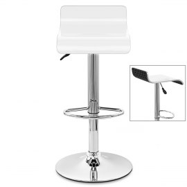 Glimmer Bar Stool White & Black