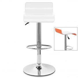 Glimmer Bar Stool White & Orange