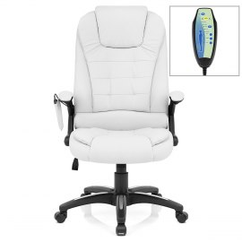 Zara Recline & Massage Chair White