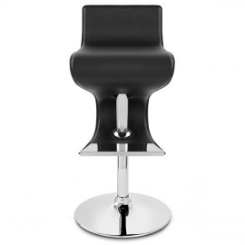 Profile Faux Leather Stool Black