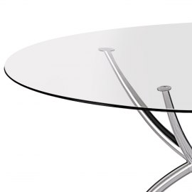 Giovanni Circular Glass Table
