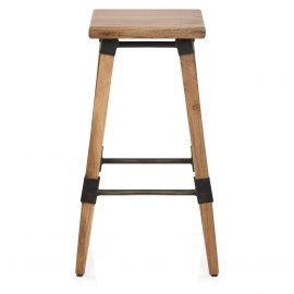 Rivet Wooden Stool