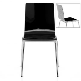 Fresco Dining Chair Black & Silver