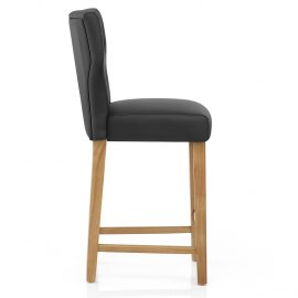 Clifton Oak Bar Stool Black