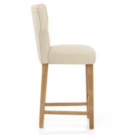 ramsay oak stool cream leather atlantic shopping