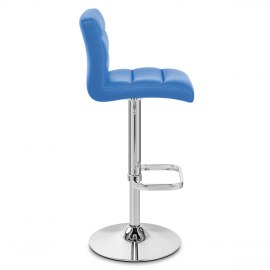 Lush Chrome Stool Blue