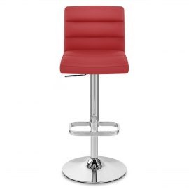 Lush Chrome Stool Red