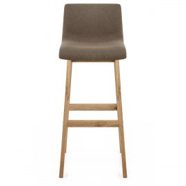 Drift Oak & Brown Fabric Stool