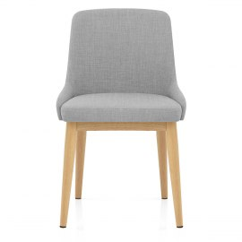 Jersey Dining Chair Oak & Light Grey