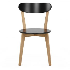 Rush Oak & Black Dining Chair