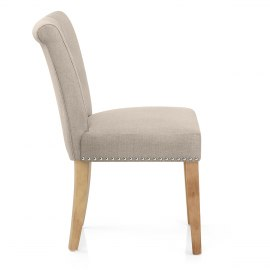 Buckingham Dining Chair Oak & Tweed Fabric