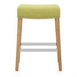 Audley Oak Bar Stool Green Fabric  sc 1 st  Atlantic Shopping : green kitchen stools - islam-shia.org