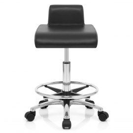 Helix Roller Stool Black
