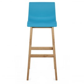 Drift Oak & Blue Bar Stool
