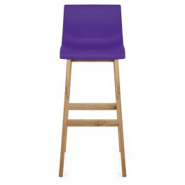 Drift Oak & Purple Bar Stool
