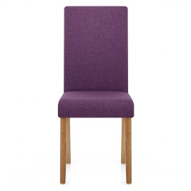 Sale Columbus Oak Dining Chair PurpleChairs   Atlantic Shopping. Purple Leather Dining Chairs Uk. Home Design Ideas