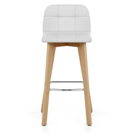 Hex Wooden Stool White