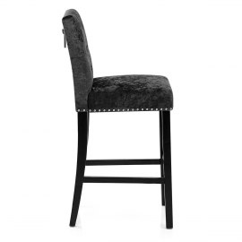 Barrington Bar Stool Black Velvet