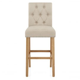 Barrington Oak Stool Cream Fabric