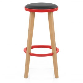 Flic Stool Black & Red