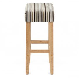 Otis Oak Bar Stool Stripe