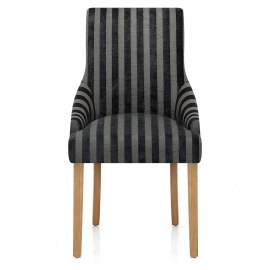 Charlton Chair Charcoal Stripe
