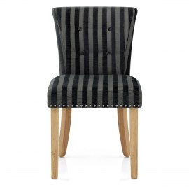 Calcot Chair Charcoal Stripe