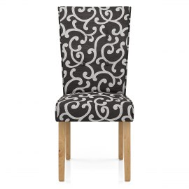 Osterley Chair Charcoal Scroll