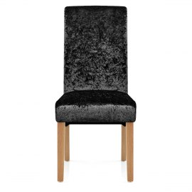 Claremont Dining Chair Black Velvet
