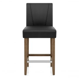 Chartwell Stool Black Faux Leather