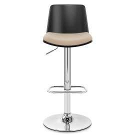 Crest Bar Stool Beige Fabric