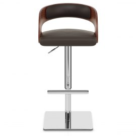 Eve Real Leather Bar Stool Brown