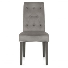 Moreton Dining Chair Grey Velvet