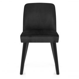 Woodstock Dining Chair Black Velvet