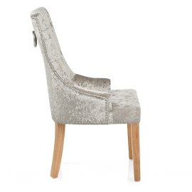 Ascot Oak Dining Chair Mink Velvet