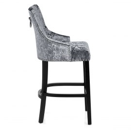 Ascot Bar Stool Grey Velvet