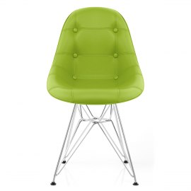 Cushioned Eames Style DSR Chair Green