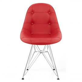 Cushioned Eames Style DSR Chair Red