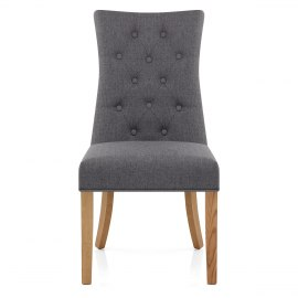 Padstow Dining Chair Charcoal Fabric