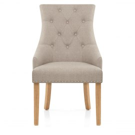 Cheltenham Oak Dining Chair Tweed Fabric