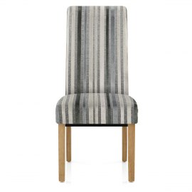 Roma Oak Dining Chair Cambridge Stripe