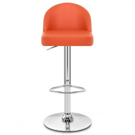 Mimi Chrome Stool Orange