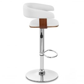 Orlando Bar Stool White & Walnut