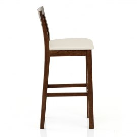 Grasmere Dark Oak Bar Stool Cream